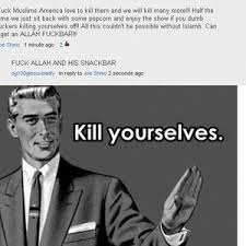 Kill Yourselves, Lifeless People by evilraiden - Meme Center via Relatably.com
