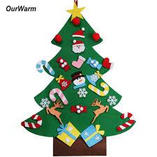 <b>OurWarm DIY</b> Felt Christmas Tree New Year Gifts Kids Toys Artificial ...