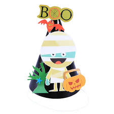 1pc Hat <b>Halloween Theme Pattern</b> Cartoon Cute Paper Creative ...