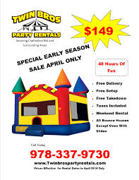bounce house  bounce house flyer