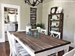Farm Table Dining Room Set Attach Pipe Clamps Diy Wood Kitchen Table On Kitchen Design Ideas