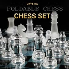 Acrylic Chess Board <b>High Quality Anti</b> broken Elegant Glass Chess ...