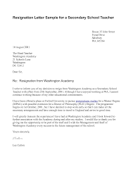 teacher resignation letter template letter template  teacher resignation letter template
