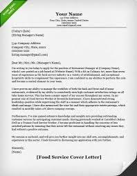food service cover letter samples   resume geniusfood service cover letter example