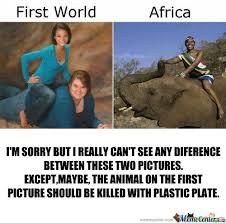 RMX] First World Vs Africa by grujan - Meme Center via Relatably.com