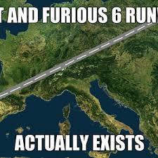 Fast And Furious 6 Runway by amazo - Meme Center via Relatably.com