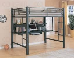 full size metal loft bed with desk for more awesome bunk bed ideas take a bunk bed office