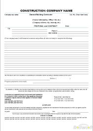 construction proposal template info construction proposal template cyberuse