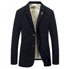 Buy Men Casual Blazer <b>2018 Hot Sale</b> Top Cotton Material Single ...