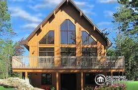 Mountain house plans  amp  ski chalets from DrummondHousePlans comSkylark Three bedroom  two bathroom rustic chalet house plan   cathedral ceiling and open