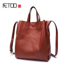 <b>AETOO Leather</b> bag female new <b>tote</b> bag soft cowhide <b>leather</b> wild ...