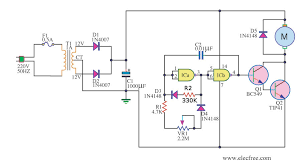 simple pwm motor control circuit using ic eleccircuit 12v dc motor speed controller by ic4011 in addition to this circuit