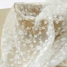 50 Wide White Organza Fabric with <b>Silver</b> Metallic Accents Bridal ...