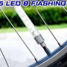 <b>2PCS 5LED Bike Light</b> Bicycle Tyre Tire Valve Caps Wheel Spokes ...