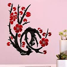 Jeash 3D DIY Plum Blossom Shape <b>Fashion</b> Acrylic <b>Wall Sticker</b> ...