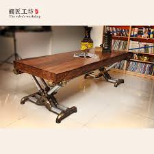 american retro industrial wood old wrought iron tables vintage pine desk table office table boss table american retro style industrial furniture desk