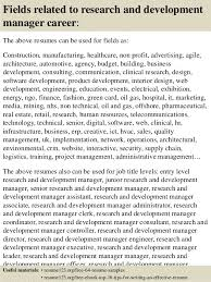 top  research and development manager resume samples