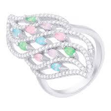Купить Серебряное кольцо 925 пробы, камни - ювелирное ...