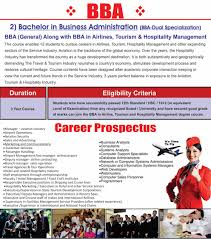 bba in aviation colleges for bba in mumbai bba in airline tourism and hospitality management programme