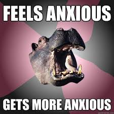 Health Anxiety Hippo memes | quickmeme via Relatably.com