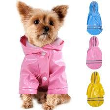 <b>HELLOMOON</b> Pet Dog Rain Coat Jacket <b>Clothes</b> 5 colors PU ...