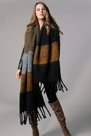 Stripe Braided <b>Tassel Scarf</b> – Ferne Boutique