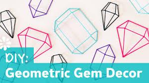 <b>DIY</b> Geometric Gem Decor Wall <b>Art</b> | Sea <b>Lemon</b> - YouTube