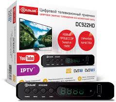 ТВ-тюнер/ресивер <b>D</b>-<b>COLOR DC922HD</b>, черный — купить в ...