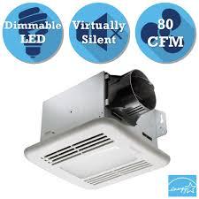 sensing bathroom fan quiet: greenbuilder series  cfm ceiling exhaust bath fan with led light