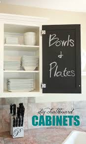 cheap kitchen cupboard: the chalkboard paint kitchen cabinet makeover