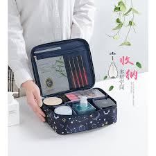 Women <b>Fashion Printing Cosmetic bag</b> multi function travel makeup ...