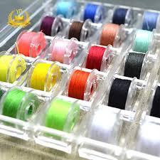 <b>36Pcs</b> Sewing Machine <b>Bobbin Threads</b> with Storage Case Box Pre ...