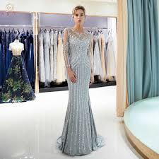 <b>Beaded</b> Evening Dresses Luxury Gray/<b>Champagne</b> Mermaid <b>Crystal</b> ...