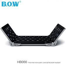 BOW HB066 <b>Three fold</b> Foldable Multi <b>system Universal</b> Portable ...