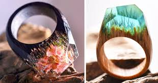 <b>New Miniature</b> Worlds Inside Wooden <b>Rings</b> Capture The Beauty Of ...