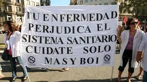 manifestación en defensa del sistema sanitario