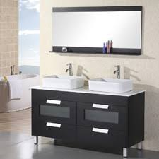 55 inch double sink bathroom vanity: home loft concepts warrendoublebathroomvanitysetwithmirror home loft concepts