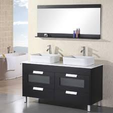 55 inch double sink bathroom vanity: home loft concepts warrendoublebathroomvanitysetwithmirror home loft concepts