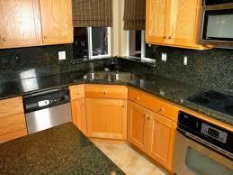 corner sinks design showcase: kitchen backsplash sink ideas decorations fashionable corner unstained oak cabinet dark granite countertop grey wall tiles
