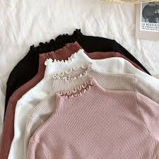 <b>Turtleneck</b> Ruched Women <b>Sweater</b> High Elastic Solid <b>2019 Fall</b> ...