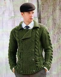 Mens hand knit shawl collar <b>cardigan</b> 81A   Джемпер мужской ...