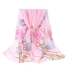 DOLDOA <b>Women Flower</b> Printing Lightweight Long Soft Wrap Scarf ...