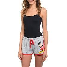 Junior's <b>Mickey</b> Mouse Lounge Shorts Gray Signature Grey ...