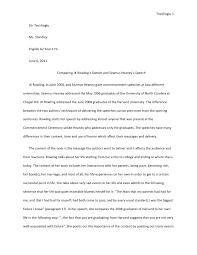 comparing jk rowling    s speech and seamus heaney    s speechtecirlioglu  siir tecirlioglu ms  standley english a year  hl june
