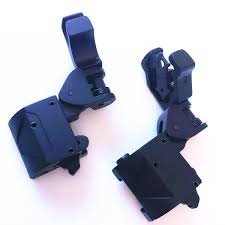 2019 <b>Tactical 45 Degree</b> Offset <b>Foldable</b> Back Up Iron Sight Set ...