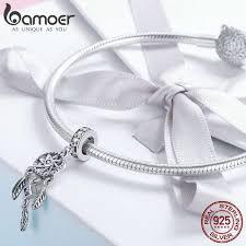 Online Shop BAMOER <b>Hot Sale 100</b>% <b>925</b> Sterling Silver Pendant ...