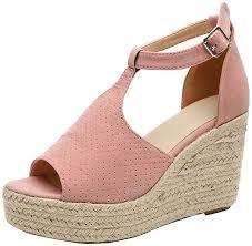 <b>Women's</b> High Platform <b>Sandals Summer</b> Peep Toe Ankle <b>Buckle</b> ...