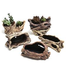 Creative <b>Antique</b> Wooden <b>Flower Planters</b> For Succulents Imitation ...