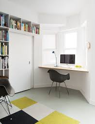 pause studio inspiration for a contemporary home office remodel in toronto with white walls and a black middot office