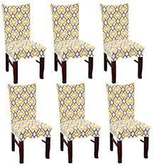 Hotel SUBCLUSTER <b>6 Pcs</b>/Set Soft Stretchable Dining <b>Chair Covers</b> ...